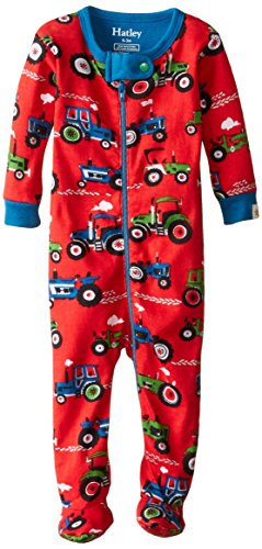 Hatley Boys' Footed Coverall, Red, 0-3 Months ()