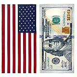 american flag towel $100 Bill & American Flag Printed Beach Towel Set - 2 Towels