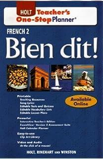 Bien dit!: French 3 - Teacher's One-Stop Planner: Rinehart and ...