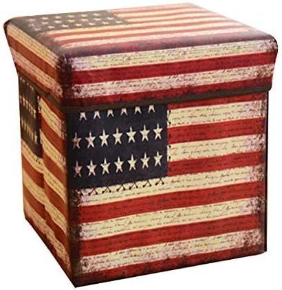 Gmxop Multiusos Plegable Taburete Vintage Estampado Caja ...