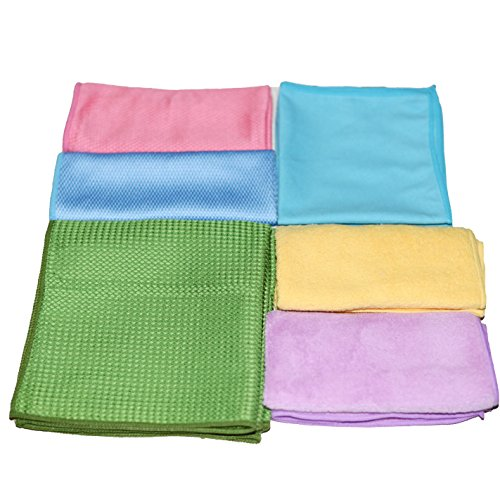 10 Pack - Microfiber Cleaning Cloth for Home Ultra Soft Microfiber Cleaning Cloths Easily Remove Dust, Oil Smudges and Dirt, Perfect Around Your Home