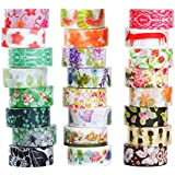 Washi Masking Tape Set of 24, Decorative Masking Tape Collection,Tape for DIY Crafts and Gift Wrapping Office Party Supplies