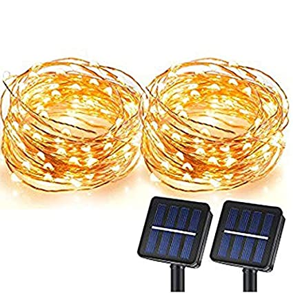 51 OhwhLU8L._SX425_ amazon com solar string lights, magicpro 100 leds starry string