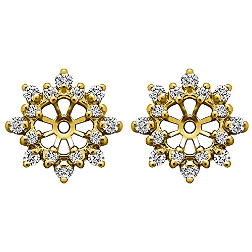 1/2 ct. Diamonds (G-H,SI2-I1) Cluster Style Earring Jacket in 14k Yellow Gold (0.48 ct. twt.) by TwoBirch