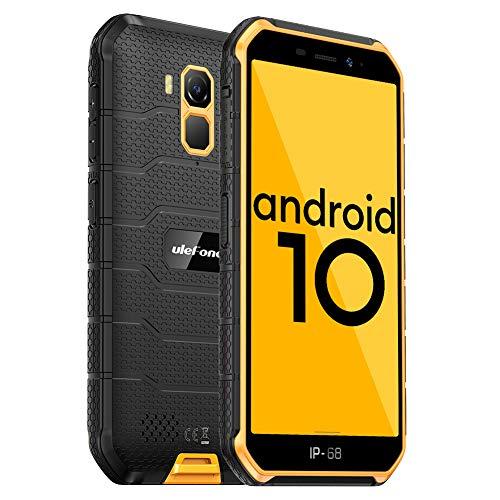 Ulefone Armor X7 PRO(2020) Android 10 Rugged Phones, 13MP+5MP Waterproof Cameras, IP68 Smartphone, NFC, OTG, 4G Dual Sim, 5.0 Inch Screen, 4G RAM 32GB ROM, 4000mAh Battery, GPS, Bluetooth, WIFI-Orange