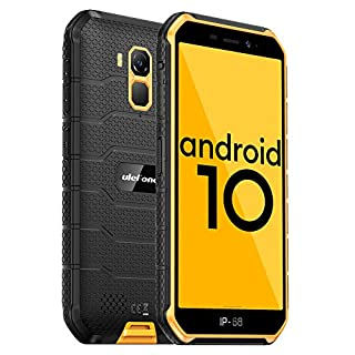 Ulefone Armor X7 PRO(2020) Android 10 Rugged Phones, 13MP+5MP Waterproof Cameras, IP68 Smartphone, NFC, OTG, 4G Dual Sim, 5.0 Inch Screen, 4G RAM 32GB ROM, 4000mAh Battery, GPS, Bluetooth, WIFI-Orange