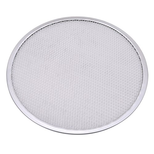 Round Pizza Screens - UNKE Aluminum Mesh Pizza Pan Screen Round Baking Tray Net Kitchen Tools Pizza Accessories,12 inch