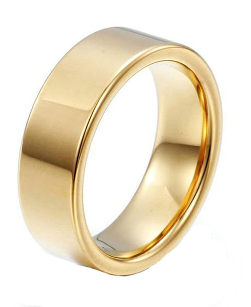 Epinki Stainless Steel Rings for Men Gold Promise Wedding Band Ring Engagement Size 13