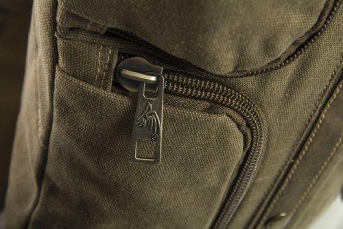Big Handbag Shop - Bolso al hombro de lona para hombre One Verde Militar