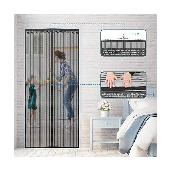 51 OiMWg7FL Magnet Fliegengitter Tür Vorhang für Holz