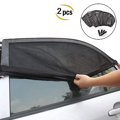 M/ückenschutz Kinder Set mit 2 Sonnenschirmen f/ür Autofenster Haustiere passend f/ür die meisten Autogr/ö/ßen atmungsaktiv f/ür Babys