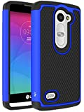 LG Leon Case, LG Tribute 2 Case, LK [Shockproof] Hybrid Dual Layer Armor Defender Protective Case Cover for LG Leon C40 / LG Tribute 2 (Blue)