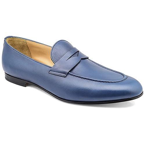 2ad0aa5d408 tresmode Men s Blue Penny Loafers 11.5 UK India (45 EU)  Buy Online ...