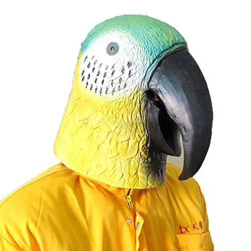 [Animal Caps Partying Funny Mask-Cosplay--Parrot] (Latex Wolf Suit)