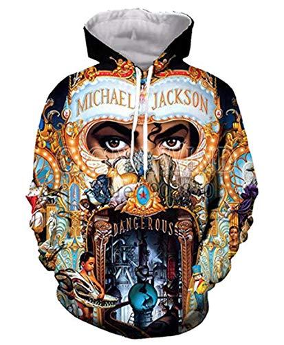 (GGmar Harajuku 3D Print Michael Jackson Hoodie Sweatshirt Funny)