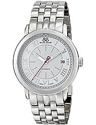 88 Rue du Rhone Mens 87WA120031 Analog Display Swiss Automatic Silver Watch
