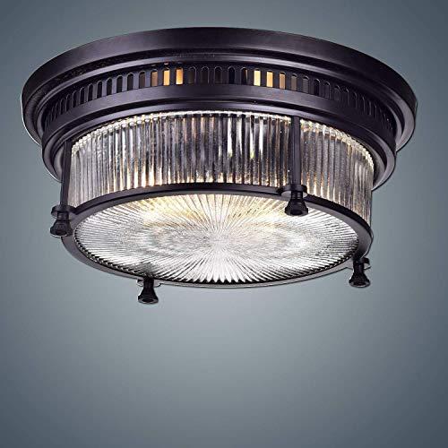 - Ecopower Vintage Oil Rubbed Bronze Metal Glass Ceiling Light Fixture