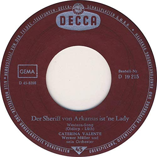 Der Sheriff von Arkansas ist `ne Lady/Ich kann ohne dich