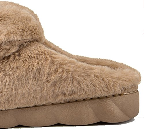 Slippers Furry Slippers Coffee Mens Fleece Warm Cattior Winter Bedroom CXHBxqw
