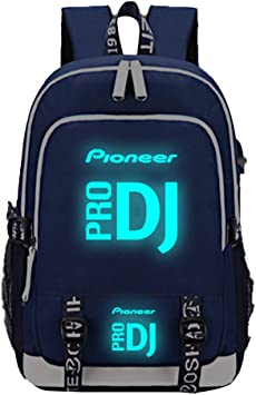 Pioneer Pro DJ Mochila Casual Mochila clásica para Hombres