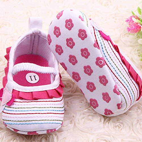 Xiangze Bebe ninas cuna suave Floral zapatos Blanco