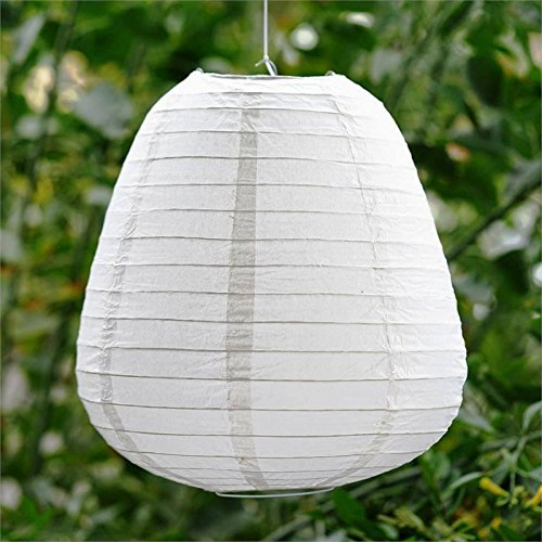 Efavormart Enticing Teardrop Chinese Paper Lanterns - White- 3 PCS