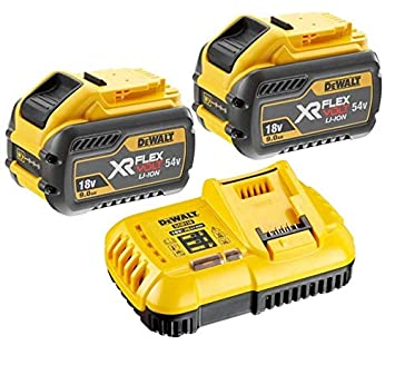 DEWALT 2 x DCB547 18v / 54v XR FLEXVOLT 9.0ah batería + ...