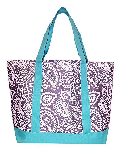 Fashion Heavy Duty Canvas Tote Bag Can be Personalized (Blank, Parker Paisley) ()