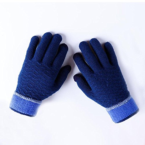 Winter HOT Soft Knit Thick Lined Gloves Winter Outdoor Riding Cycling Gloves For Men Women Touch Screen Texting Gloves for Smartphones PC Laptop Tablet Smart Touch-nology in Fingertips From ()