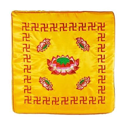 Amazon.com: Nava dorado Square Zafu Zen Lotus Meditación ...