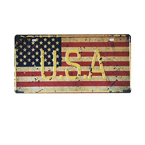 VintageBee Fifa Retro Sign Wall Metal World Cup Home Pub Bar Poster Metal Vintage Plate Country Flag American Flag the USA Flag 6'' X 12'' (12' Vintage Flag)