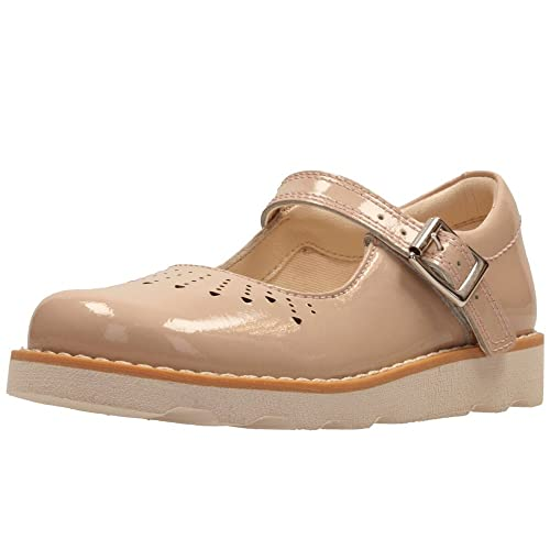 Girls Clarks Casual Buckle Mary Janes Crown Jump