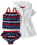 Carter's Red White and Blue Heart 2 Piece Swim Set 3 Months