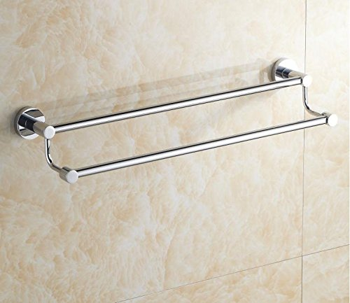 GBHNJ Towel Bars Lengthened Double Rod Wall-Mounted Bathroom 71Cm