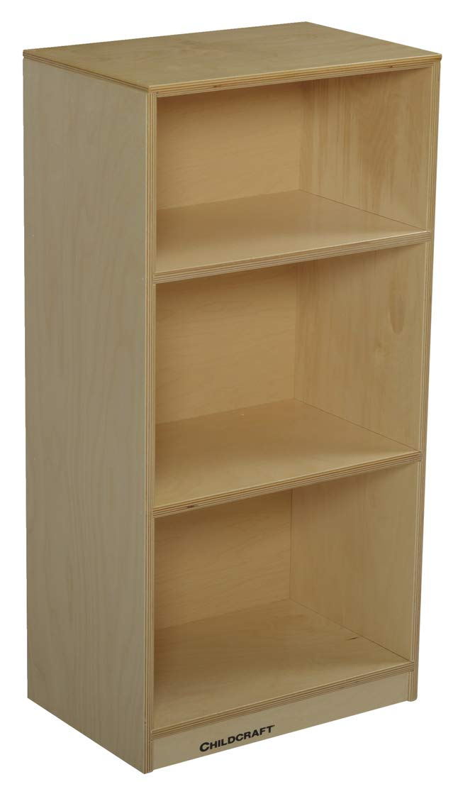 Childcraft 071876 Durable Mini Storage Shelf Unit, 3-Shelves, Birch Veneer Panel, UV Acrylic, 35-3/8'' x 11-3/4'' x 17-13/16'', Natural Wood Tone by Childcraft