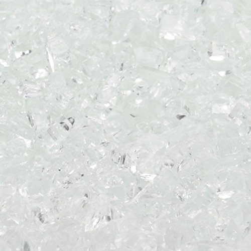 1/4'' Crushed Ice / Starfire Fireglass 10 Pound Bag by Fire On Glass