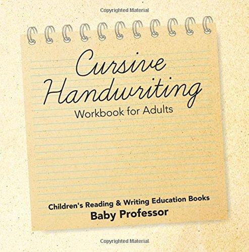 Cursive Handwriting Workbook for Adults : Children's Reading ...