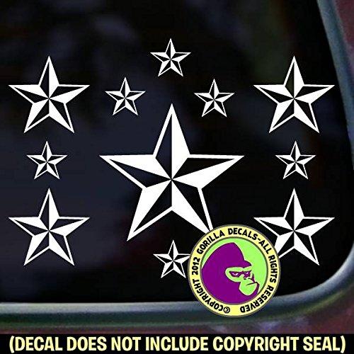 ROCK & ROLL STARS Punk Tattoo Vinyl Decal Sticker A ()
