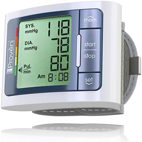([New] iProven Wrist Blood Pressure Monitor Watch - Digital Home Blood Pressure Machine - Manual Blood Pressure Cuff - Clinically Accurate & Fast Reading - BPM-337 incl. 2 AAA Batteries)