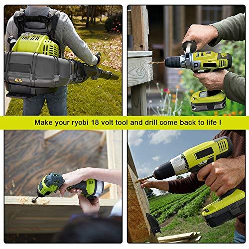 5 0AH for Ryobi 18v Battery Replace Ryobi One Plus Lithium Battery P100  P102 P104 P105 P108 P107 2-P Gerti Batt