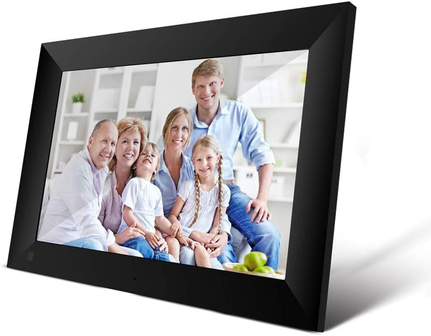 APP Control WiFi 10.1 Inch Digital Picture Frame 1280 x 800 IPS Press Screen 1G+16G Smart Android System Cloud Photo Frame with Detachable Holder Color : Black