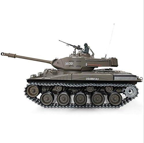 RC tanque M41 A3 WALKER BULLDOG Heng Long humo y sonido+Metal gear con 2,4 GHz Mando a distancia