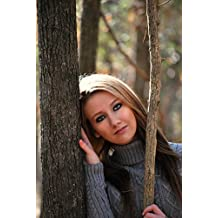 LAMINATED 24x35 Poster: Girl Dreaming Pretty Nice Beautiful Trees Woods Woman Female Nature Portrait Fashion Winter Outdoors Makeup Pose Smile Attractive Young Face Expression Head