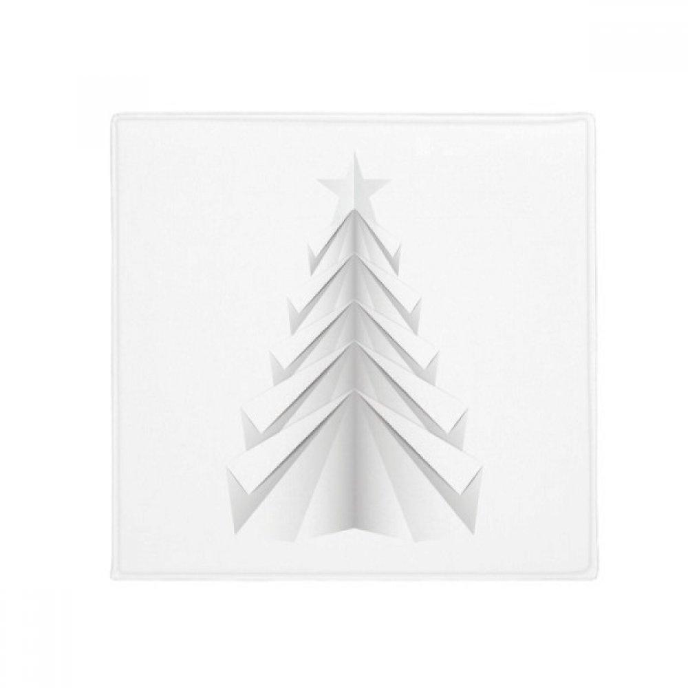 DIYthinker White Abstract Christmas Tree Origami Anti-Slip Floor Pet Mat Square Home Kitchen Door 80Cm Gift