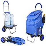 dbest products Bigger Trolley Dolly, Blue Shopping