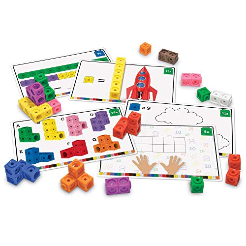 - Learning Resources Early Math Mathlink Cube Activity Set, Assorted Colors, 115Piece, Ages 4+