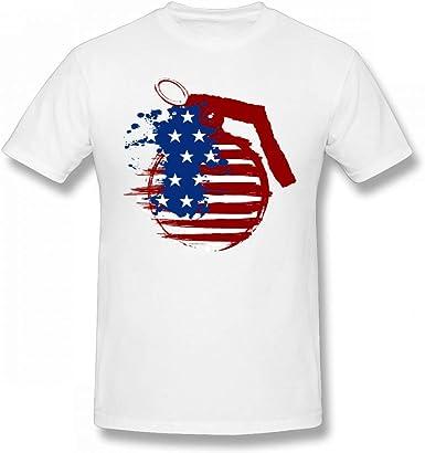 I Am An American Tshirt 100/% Cotton New Mens Skull Flag United States T-shirt