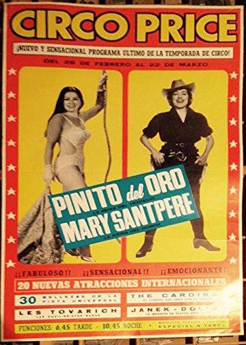 Cartel circo Pirce años 60. Especial Pinito del Oro: Amazon ...