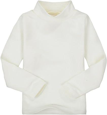 Zantec Camiseta Unisex de Cuello Alto para niños Camiseta de algodón de Manga Larga para niños: Amazon.es: Hogar