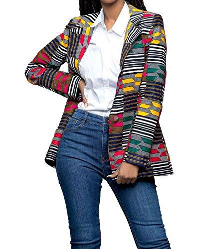 GLADTHINK Femmes Africain Dashiki Caftan Culturel Porter Dcontracte Costume Jaune